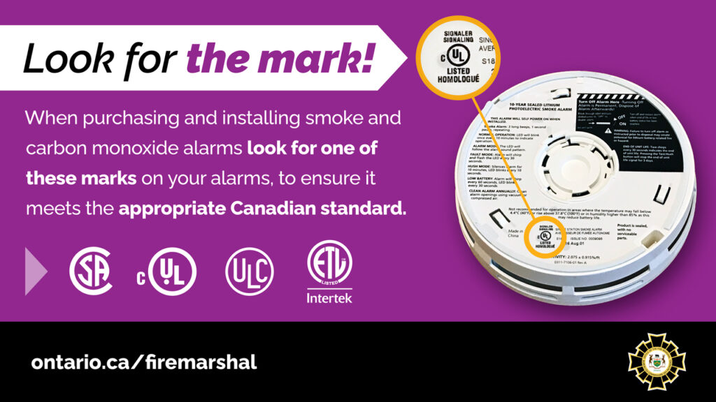 Ontario Fire Marshal Message about Alarm Markings
